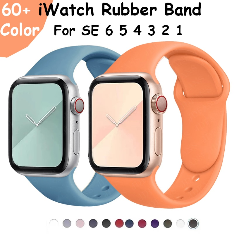 Watch Band For Apple Watch 6 44mm 40mm Silicone Watch Strap For IWatch Bands Series 5 4 3 2 1 42mm 38mm Soft Rubber Band Straps for xiaomi mi band 2 strap miband 2 strap bands colorful starry sky all stars splash soft rubber silicone watch straps bands new