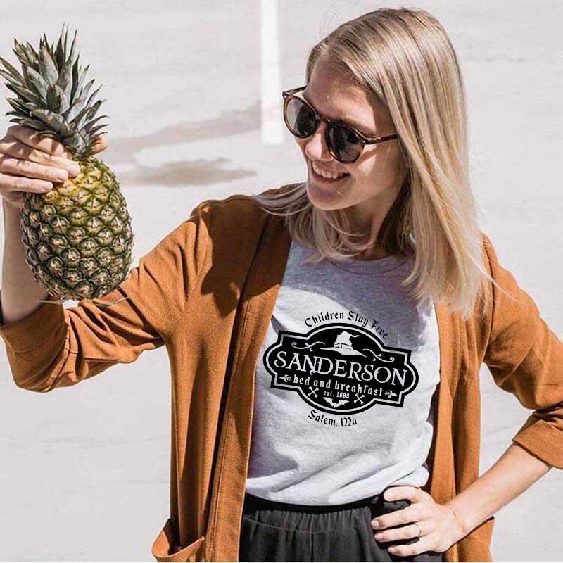 100% algodão manga curta hachus pocus bruxa topos estéticos t camisas sanderson irmã gráfico camiseta halloween slogan grrunge