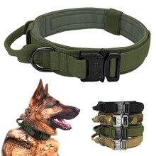 Collier de chien tactique allemand Shepard moyen grand colliers de chien pour la formation de marche poignée de contrôle de collier de chien durable