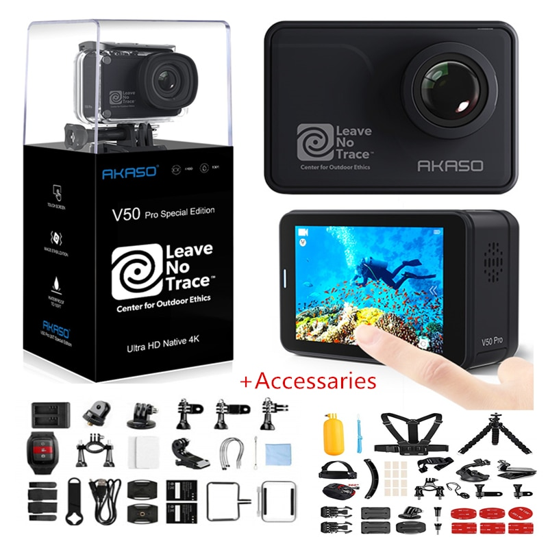 AKASO V50 Pro SE Экшн-камера с сенсорным экраном Спортивная камера Фонд доступа специальное издание 4K Водонепроницаемая камера WiFi Пульт дистанцио...