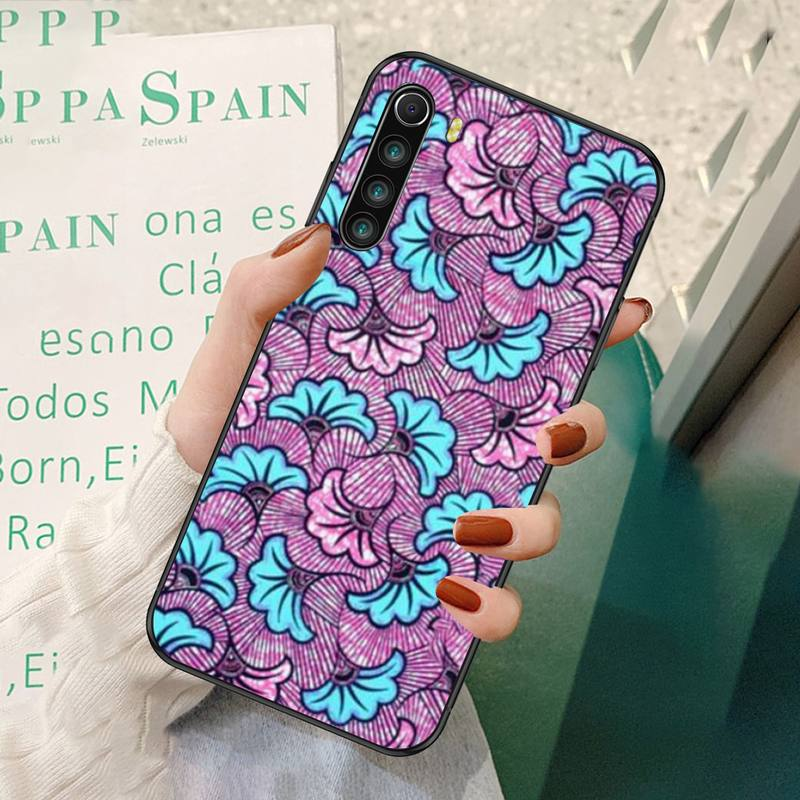 African Style Fabric Print Printing Phone Case For Redmi 7 8 9 A K20 30 Pro Note 8 9 Pro 9s