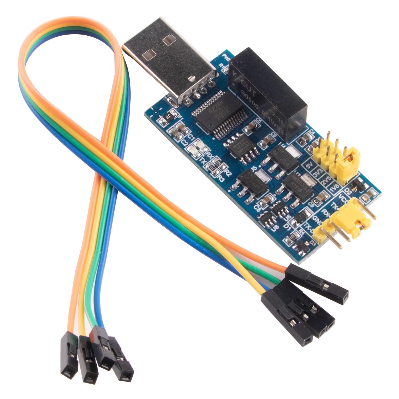 Adaptador de módulo convertidor de puerto de serie FT232RL, USB aislado magnéticas...