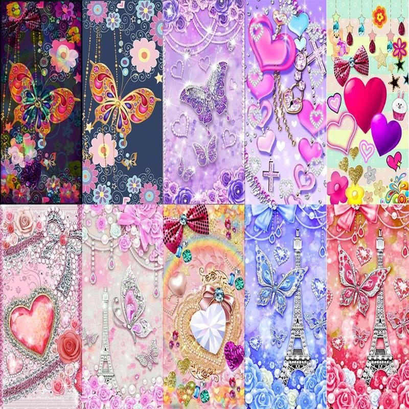 5d diy pintura diamante flor borboleta diamante bordado pintura ponto cruz mosaico adesivo decoração