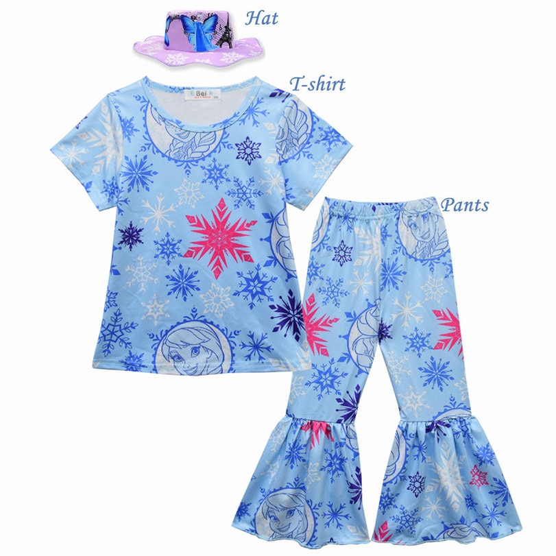 Niñas Elsa Anna ropa de niñas pequeñas ropa Mickey Minnie Set niños Conjuntos Niña otoño ropa niñas pijamas de dos piezas traje