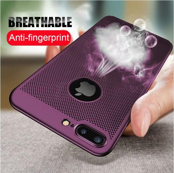Capa dissipação de calor para iphone x xr xs max 6 6 s 7 8 plus 5 5S se celular respirável capa para iphone 11 pro max