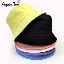 Children Cotton Bucket Hats Girl Summer Sunscreen Panama Hat Boy Pure Color Sunbonnet Fedoras Outdoor Fisherman Hat Beach Cap