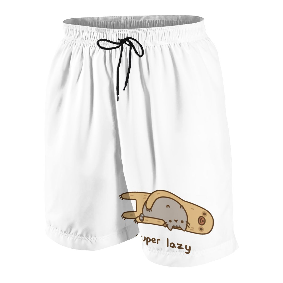 Sloth Loves Cat Teenagers Comfortable Fashion Fitness Joggers Quick-dry Cool Short Sweatpants