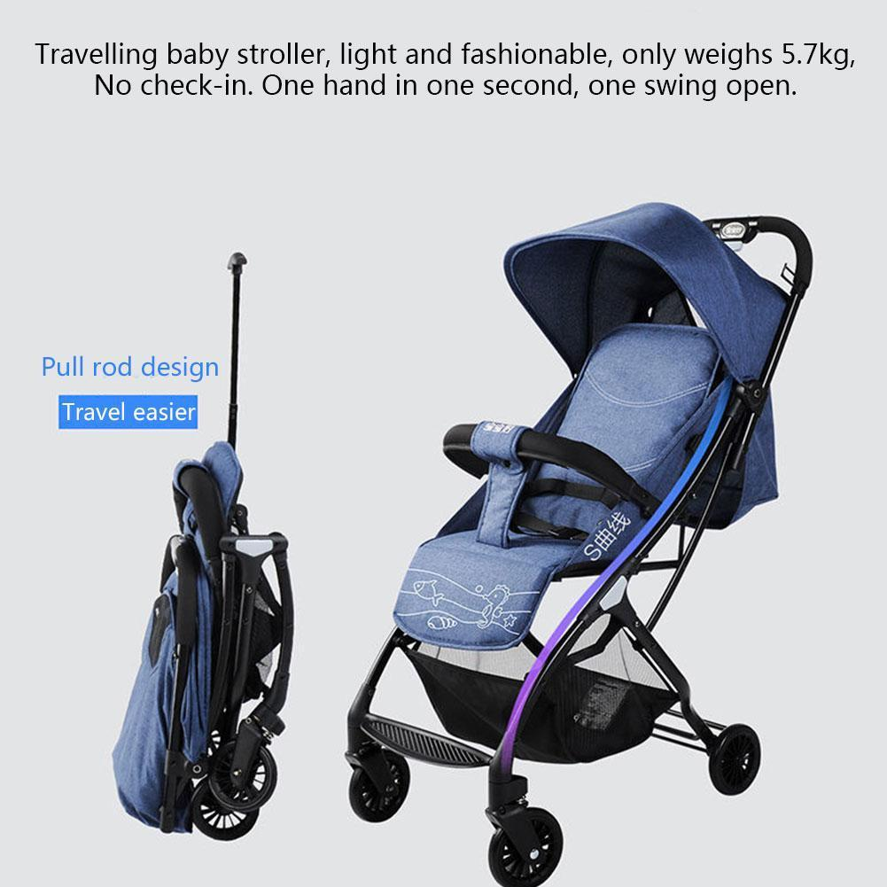 Folding Baby Stroller with Umbrella Ultra Light Baby Wheel Can And Stroller Four In Portable Stroller 2 Children 1 Sit Recl W6R4