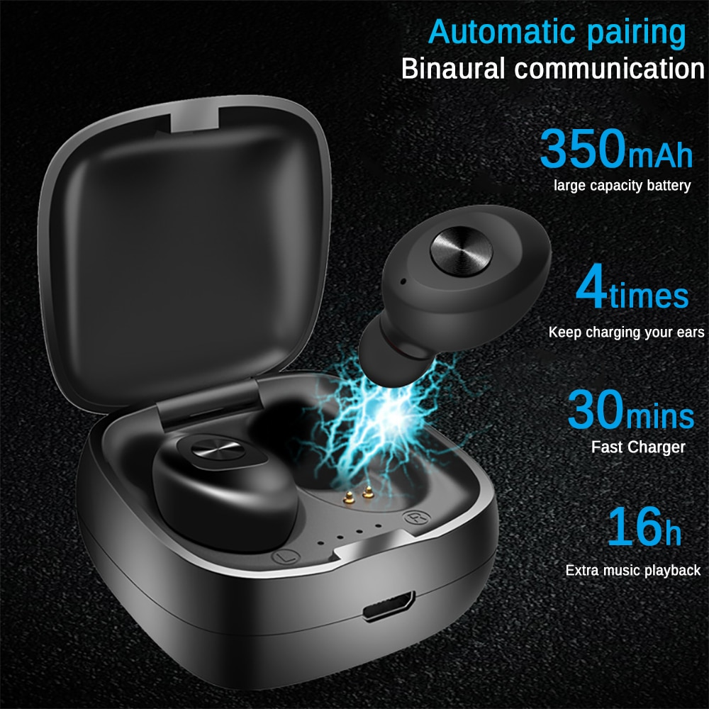 New Bluetooth 5.0 Earphone Stereo Wireless Earbus HIFI Sport Earphones Handsfree Gaming Headset with Mic for Samsung iPhone enlarge
