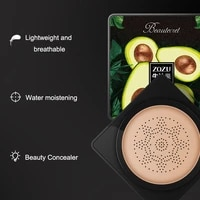 avocado air cushion bb cream whitening oil control concealer clear repair mushroom cushion cc cream foundation cosmetics tslm1