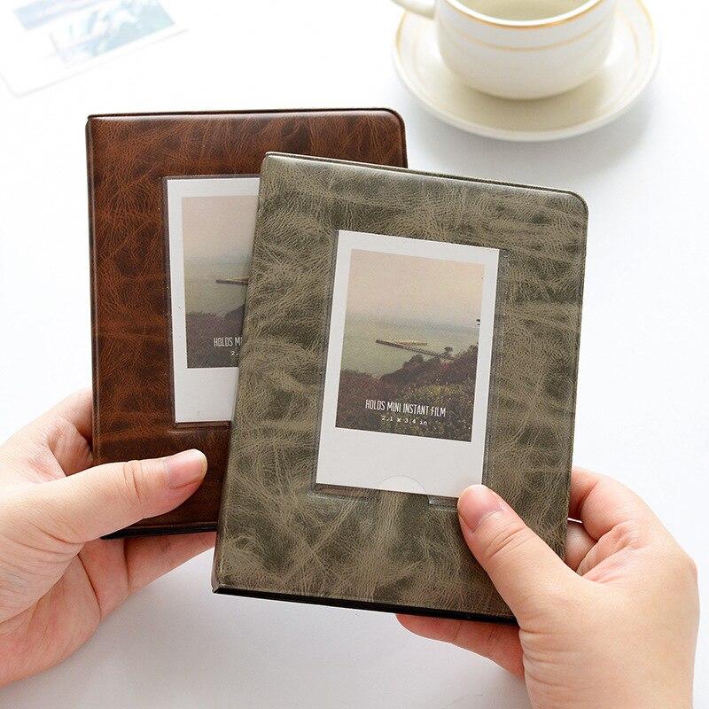 64 bolsos polaroid álbum de fotos 3 polegadas mini caso de imagem instantânea de armazenamento para fujifilm instax mini filme 8 instax álbum fotograf