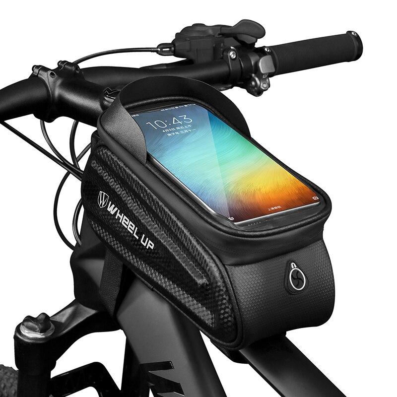 Bolsa de bicicleta impermeable soporte de teléfono pantalla táctil montaje de ciclismo para iPhone Samsung LG Universal MTB bicicleta Smartphone soporte