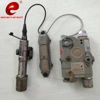 element airsoft tactical flashlight peq 15 double switch peq hunting ir flashlight airsoft dbal weapon light switch peq 15