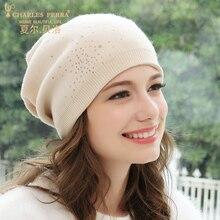 Hats Women Autumn Winter Thermal Wool Knitted Hat Ear Protection Casual Female Beanies Skullies Fashion Hats Headwear 8228