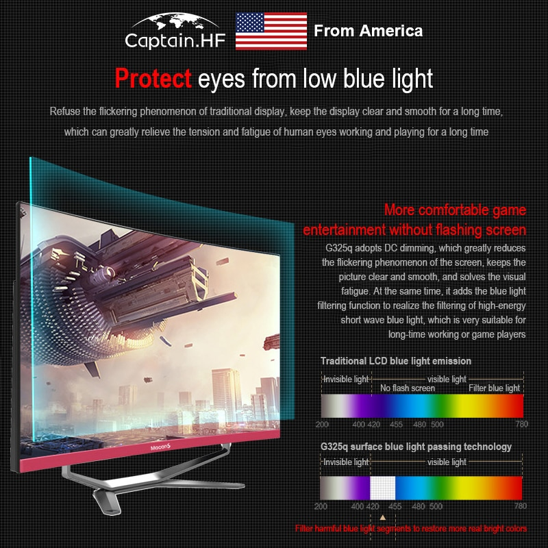 US Captain 24 inch All in One Computer, Curved surface display, High Independent Graphics Card, Intel Core i5, Gaming Desktop PC enlarge