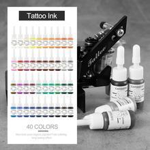 40 pièces/ensemble encre de tatouage Pigment ensemble encres de tatouage longue durée pour tatouage sourcil maquillage beauté corps Art outils fournitures peinture bricolage