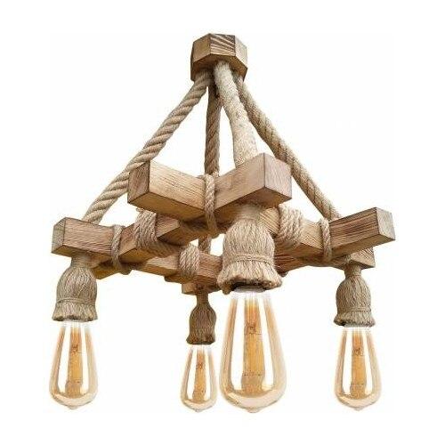 Rustic Wood Chandelier Cafe Bar Restaurant Living Room Special Design Stylish Indoor Lighting Lamp