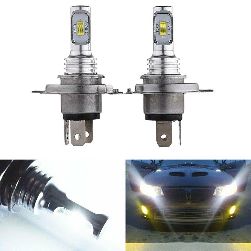 H4 9003 HB2 LED Headlight Bulbs Kit High Low Beam Bright 35W 4000LM 6000K White