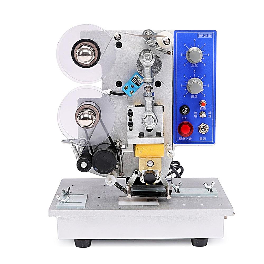 Дата принтер автоматический струйный принтер HP-241B перемещение лента принтер горячей печати под давлением и температурой, лента