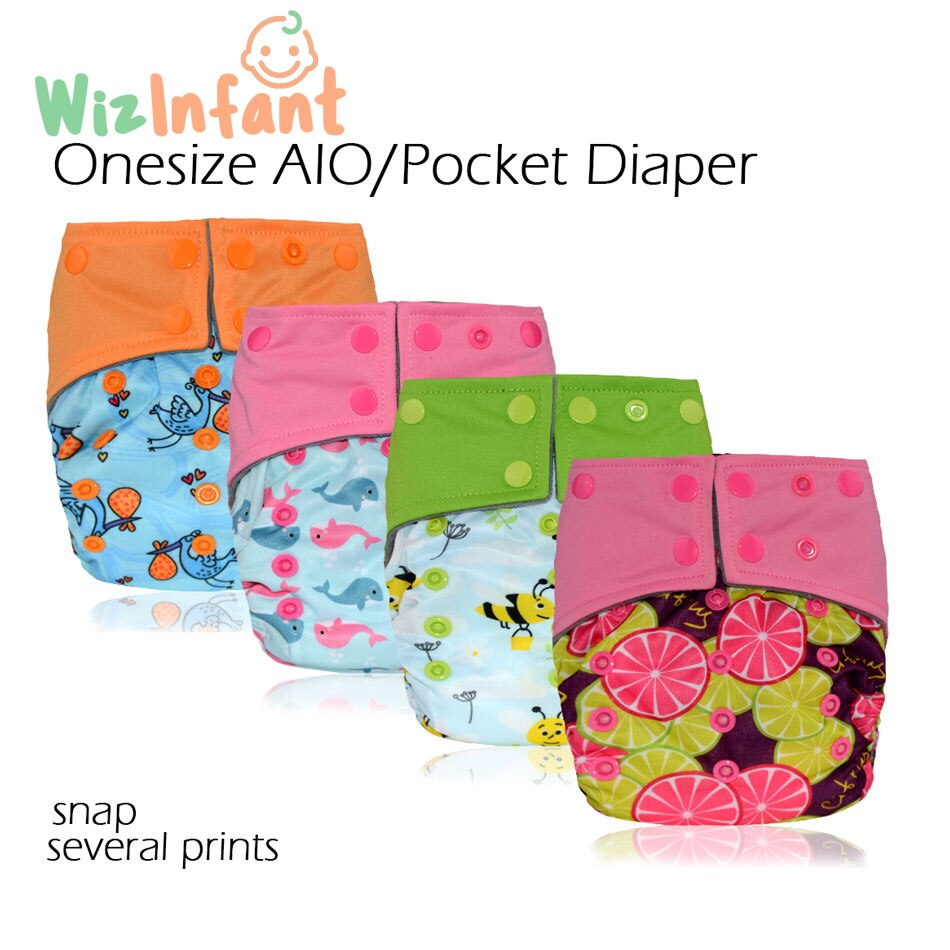 super soft minky printed baby one size pocket diaper with double leg gusset breathable diaper nappies with bamboo charcoal inner Onesize AIO&Pocket Cloth Diaper for 3-15 baby,S M L adjustable,double leaking guards with charcoal insert