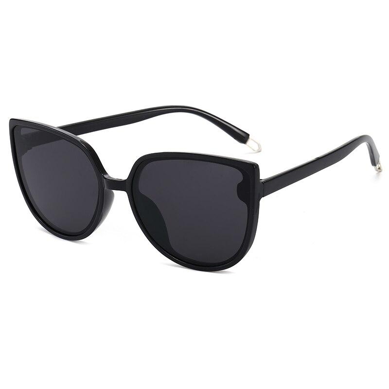 Vintage Oversized Round Sunglasses Women Brand Designer Cat Eye Retro Black Frame Men Sun Glasses fo