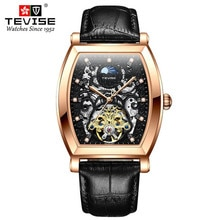 Moon Phase Fashion Men Sports Watches Tourbillon Hollow Military Mens  Automatic Mechanical Watch Ca