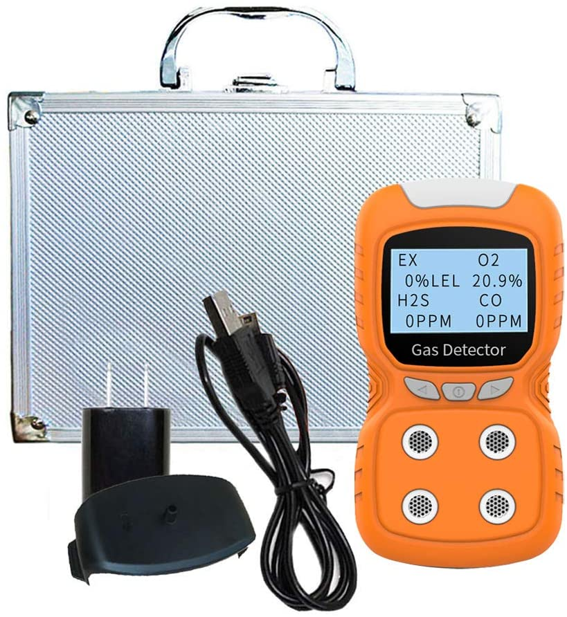 LCD 4 in 1 Toxic Gas Alarm Detector CO O2 H2S Oxygen Monitor Gas Analyzer Meter USB Rechargeable Digital Gas Detector enlarge