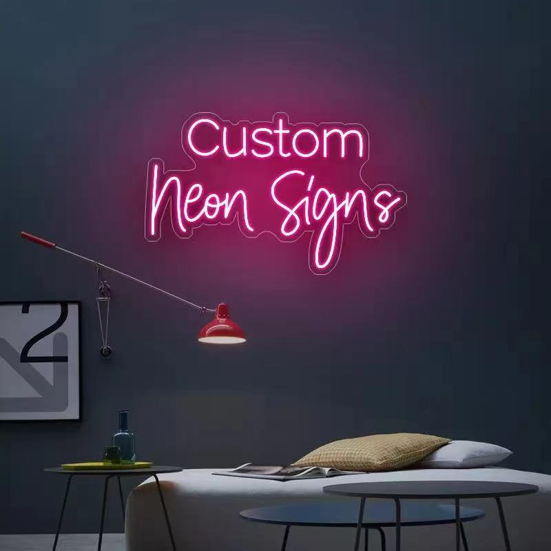 DIY Name Custom Birthday Design Led Neon Sign Night  Party Light Acrylic Backboard Purple Colors Hang Up Screw Wall Decoration enlarge