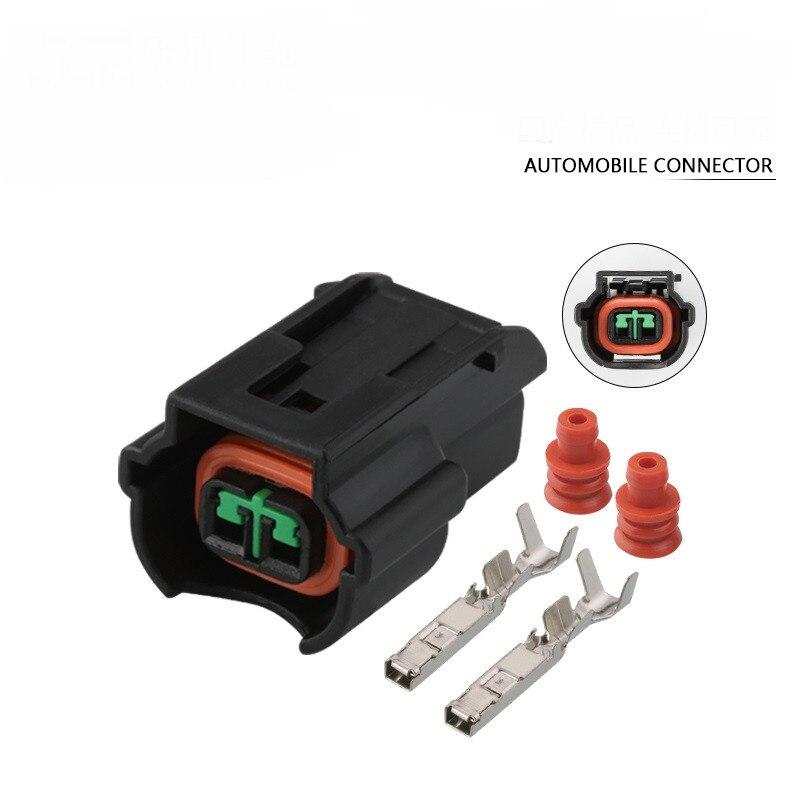 1000 Sets 2 Pin PU465-02127 Car Waterproof Auto Connector 1.2 Female DJ7024YA-2-21 K2 K3 K5 Nozzle Plug Connector With Terminal