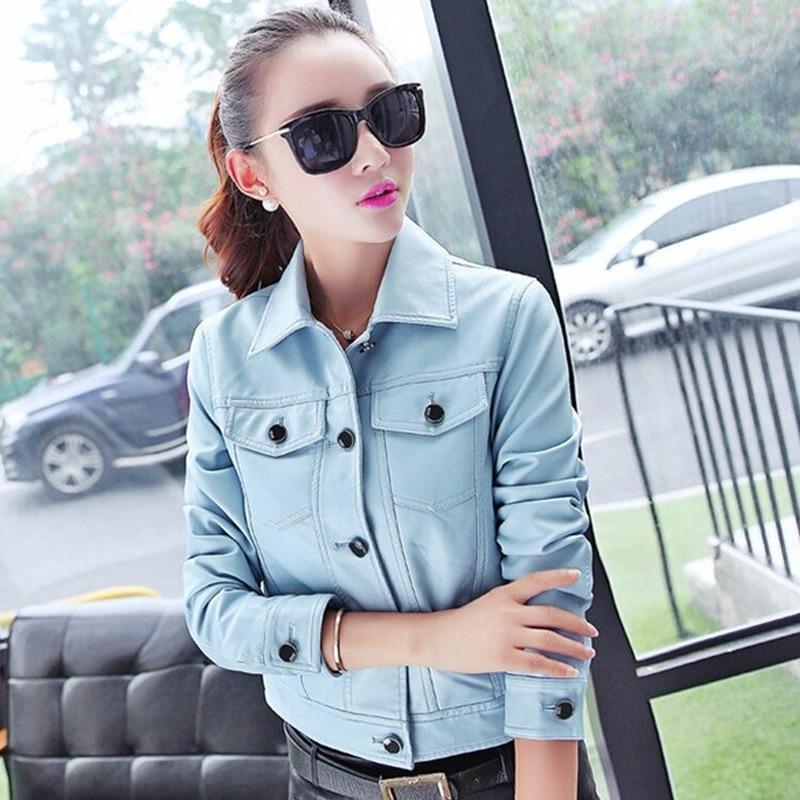 2019 fashion new and short leather garment leather jacket  biker leather jacket us style new womens leather jackets and coats enlarge