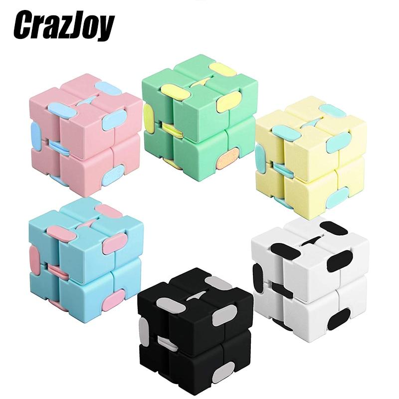 Cubo mágico para aliviar el estrés para niños y adultos, juguete antiestrés, rompecabezas cuadrado, laberinto