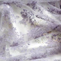 mesh fabric purple lace embroidery fabric wedding dress curtain baby clothes background cloth handmade diy