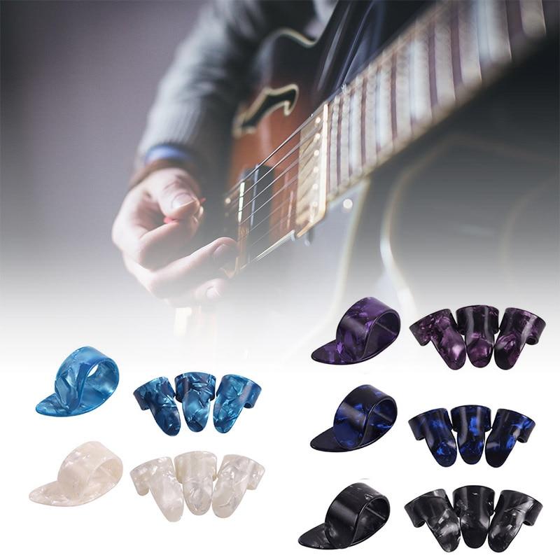 4 Uds guitarra plectros de tubo pulgar dedo selecciones para eléctrica acústica...