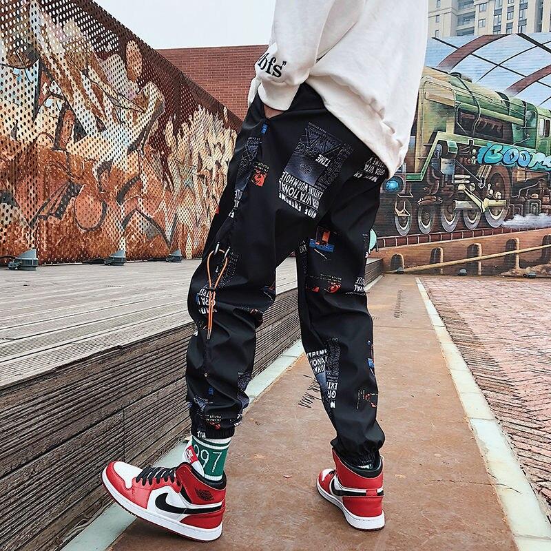 Men's Spring and Summer Ins Pants, Men's Trendy Sports Pants, Loose Casual Feet, Harem Pants, Hip-hop Sports, Nine-point Pants