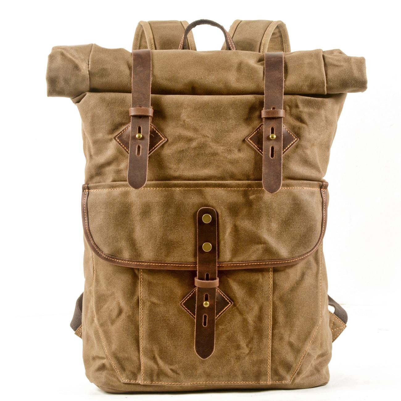 الرجعية سعة كبيرة على ظهره رحلة قصيرة في الهواء الطلق حقيبة تسلق الجبال لفة أفضل افتتاح قماش حقيبة السفر الأعمال