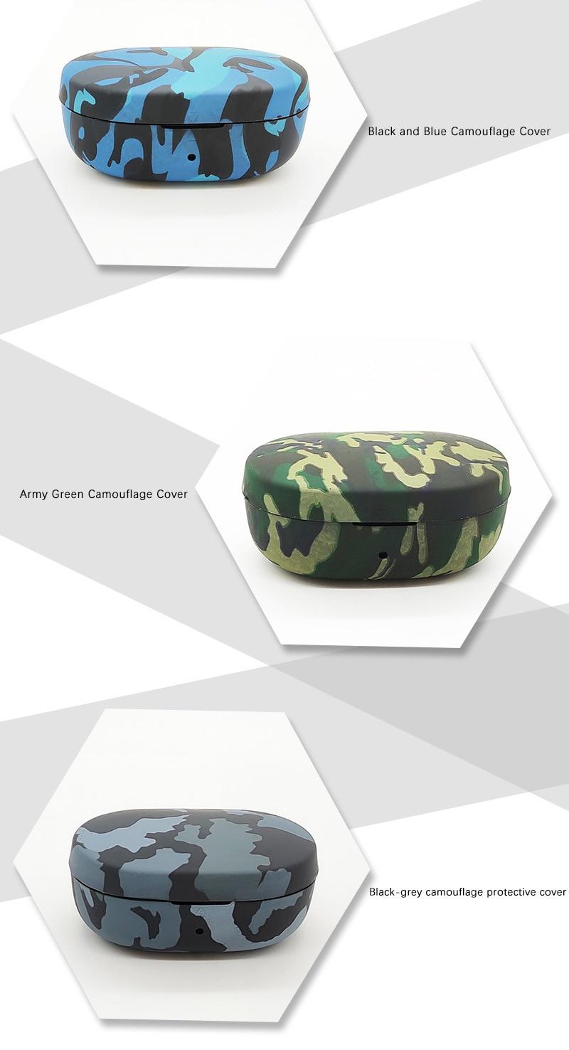 Camouflage Abdeckung für Redmi Airdots Drahtlose Bluetooth Kopfhörer Fall Silikon Hülse Stoßfest Ohrhörer Protectiver Tropfen Shell
