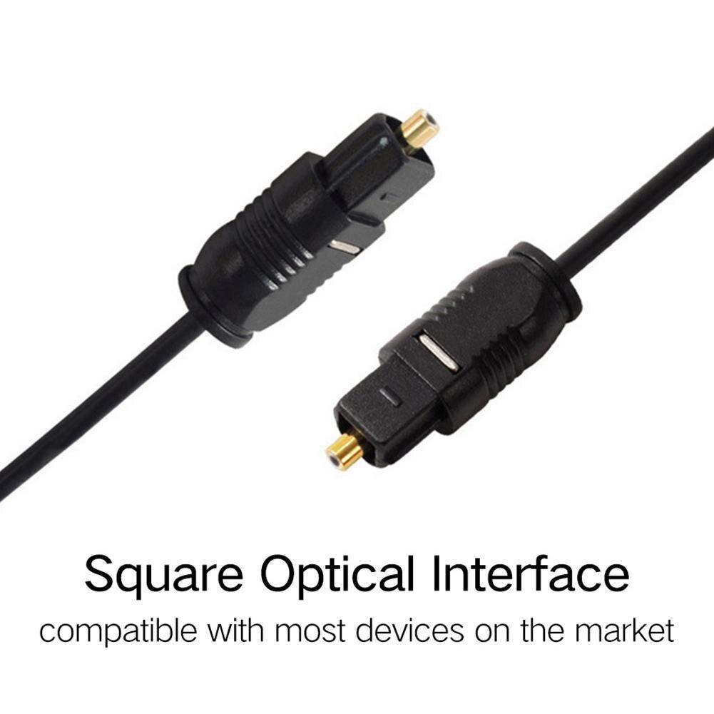 Digital Cable de sonido óptico Toslink chapado en oro de 1m 2m...