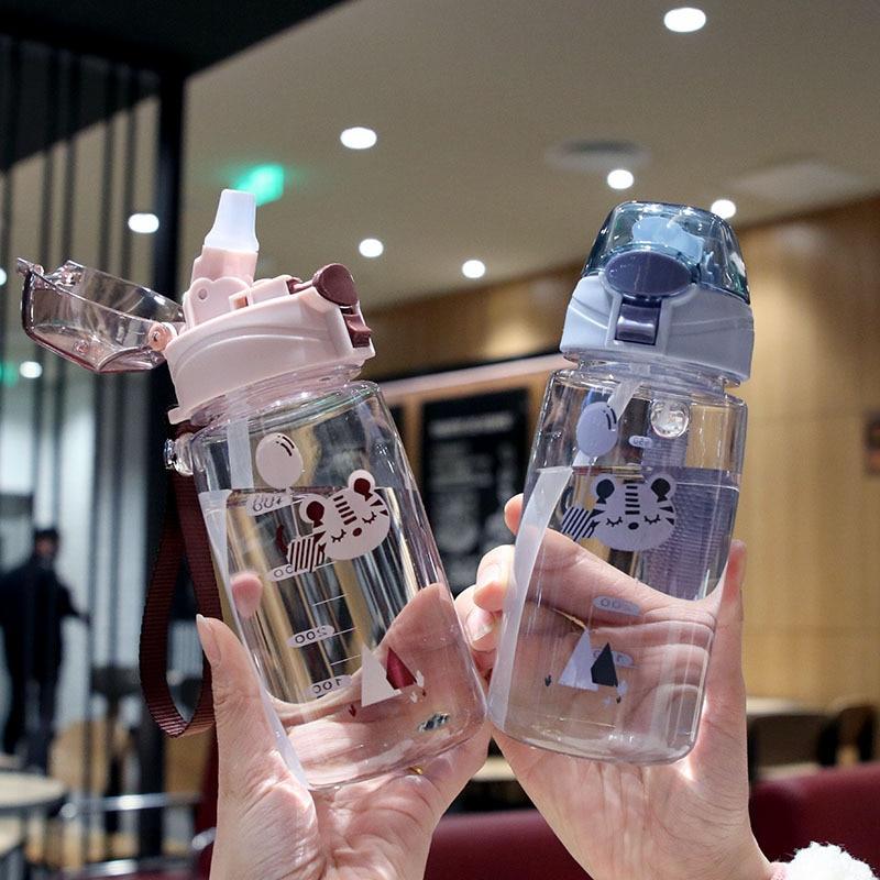 Детские бутылки для воды, питьевые детские бутылки для детей, милые пластиковые бутылки с соломинкой