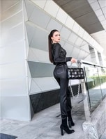 2020 spring and autumn office lady fashion casual brand female women ladies girls soft denim jumpsuits clothing