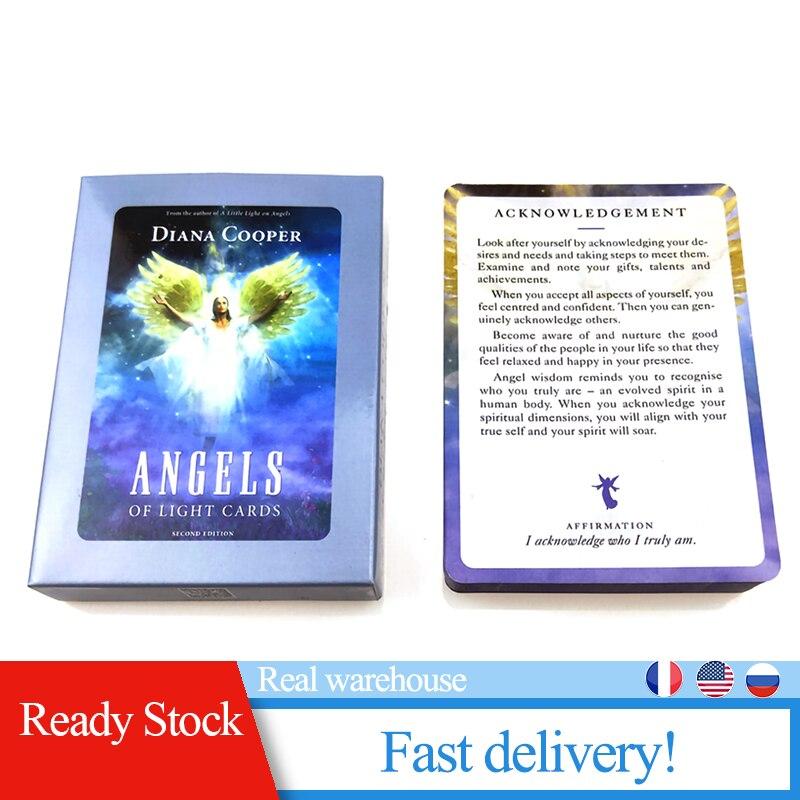 Tarjetas de ángeles de la luz, tarjetas de oráculo Tarot, tarjetas Divination Destiny, juego de mesa de cartas, tarjeta de juego