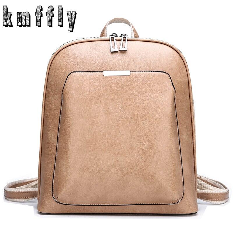 Moda feminina mochila de alta qualidade mochilas de couro sólida escola bolsa de ombro para meninas mochila feminina bagpack sac a dos