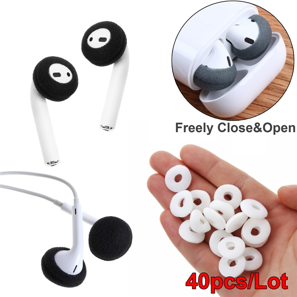 Earphone Tips Cover Replacement Soft  Earphone Foam Cover Sponge Ear Pad Case Headphone Anti Slip Protective For Airpods Earpods
