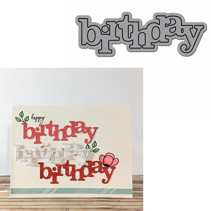 Пресс-форма для изготовления открыток на день рождения, пресс-форма для скрапбукинга, металлическая Форма для резки, новинка 2019