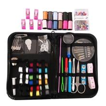 200Pcs/set Mini Sewing Kit Thread Scissors Tape Pins Thimbles Needle for Home Travel _WK