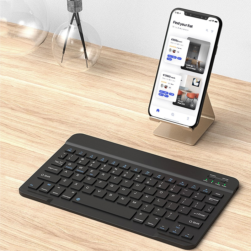 Portátil unversal bluebooth teclado desktop portátil tablet teclados inglês & russo 7 9 10 polegada disponível. n
