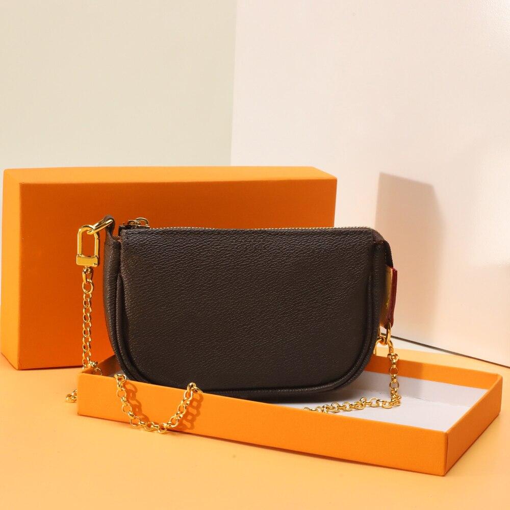 تسليم سريع أعلى جودة فاخرة تصميم سلسلة الرغيف الفرنسي حقيبة تحت الإبط حقائب كتف استخدام صغير في تركيبة مع صندوق شحن مجاني