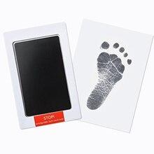 Baby Fußabdruck Handabdruck Keine Touch Haut Ungiftig Tintenlosen Inkpads Kits,DIY foto Rahmen Souvenir Mädchen Junge Kleinkind