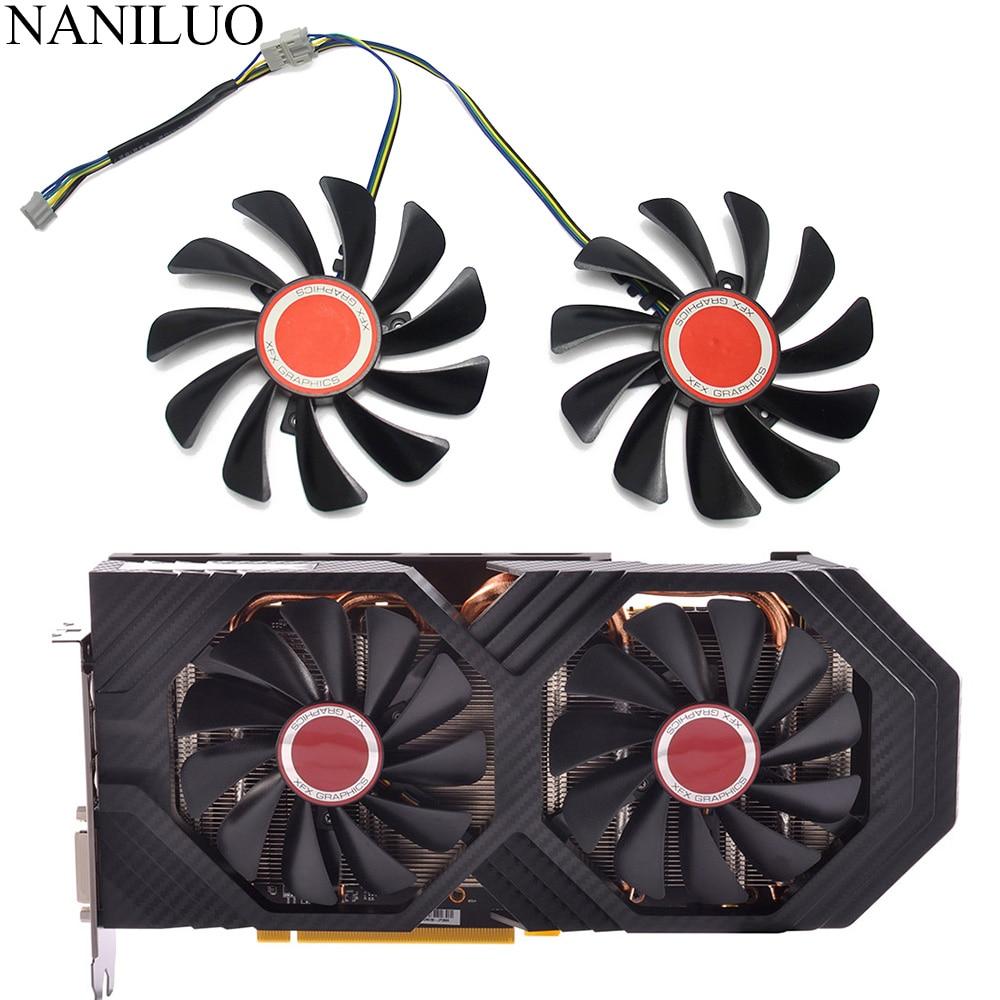 2 шт./компл. FDC10U12S9-C CF1010U12S 95 мм альтернативный кулер для видеокарты RX590 GPU вентилятор для охлаждения видеокарты XFX RX 590/580 VGA