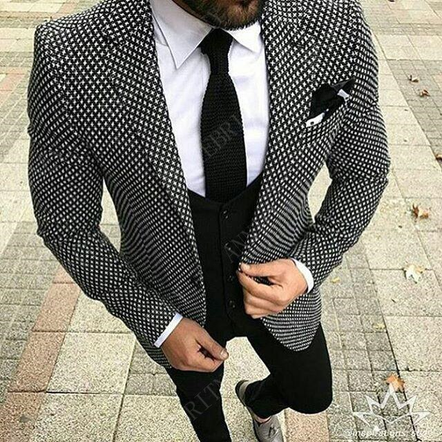 ANNIEBRITNEY Casual Men's Suits Set Slim Fit Groom Tuxedos for Wedding Prom Formal Fashion Jacket Pants Suits for Men Best Men