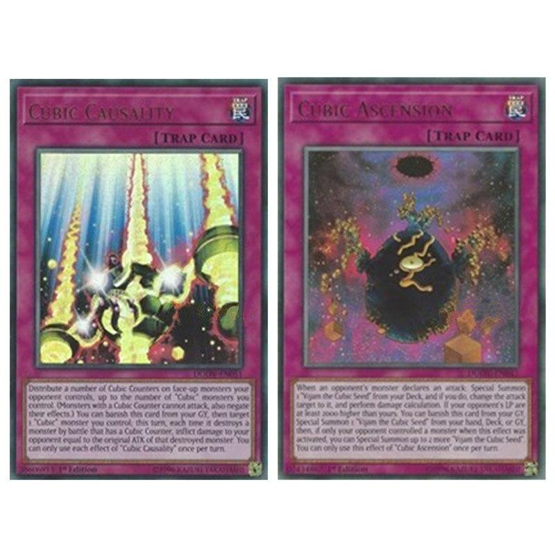 Yu Gi Oh английские кубические асезион/причинность UR Card DUOV ловушка карты хобби Коллекционирование игровых карт